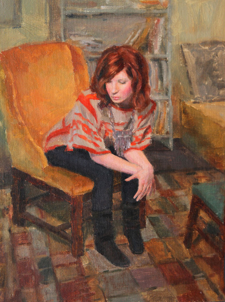 Melissa Gann, Geometry, oil, 16 x 12.