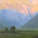 Dave Santillanes, Telluride (Study), oil, 12 x 18.