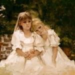 Jennifer Welty, The Artist's Daughter, oil, 24 x 26.