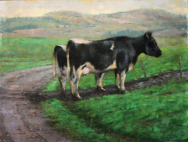Elizabeth Pollie, The Crossing, oil, 16 x 20.