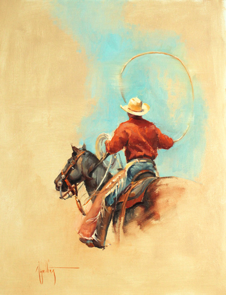 Abigail Gutting, The Lasso, oil, 20 x 16.