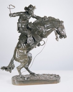 Frederic Remington, The Broncho Buster, bronze, #23 Henry Bonnard Foundry ca. 1895, 24 x 20 x 10.