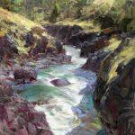 Thomas Kitts, Glacial Milk – Klickitat River, oil.