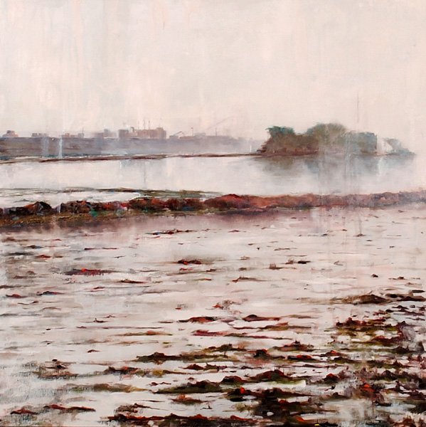 Jackson Lain, Tide Out #2, oil, 24 x 24.