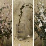 Melissa Franklin Sanchez, Una Giornata Senza Fiori, oil, five panels, each one is 36 x 16.