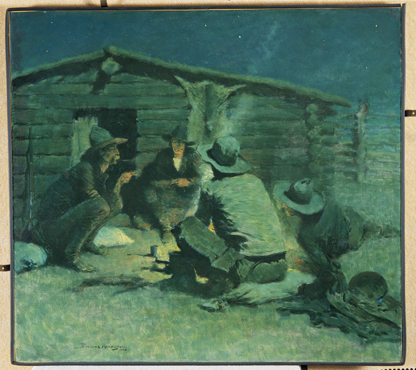 Frederic Remington, Untitled, possibly The Cigarette, oil, ca. 1908-1909, 30 x 27.