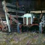 Randy Saffle, Barn Find, oil, 9 x 12.