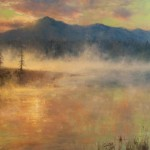 D. Eleinne Basa, Warm Springs, Dawn, oil, 28 x 36.