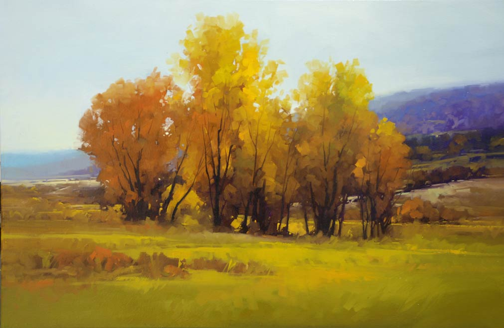 Gregory Stocks | White River Valley, oil, 24 x 36.