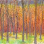Wolf Kahn, Orange, Green, Yellow and Gray